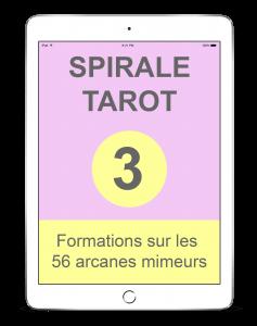 Spirale-Tarot sur les 56 arcanes mineurs