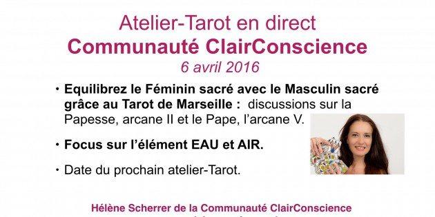 Atelier-Tarot de la Communauté ClairConscience d'Hélène Scherrer