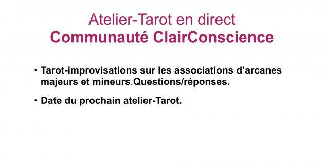 Atelier-Tarot dans la Communauté ClairConscience d'Hélène Scherrer