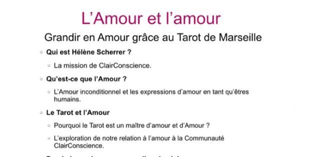 Amour et amour-Communauté ClairConscience de Tarot de Marseille intuitif d'Hélène Scherrer