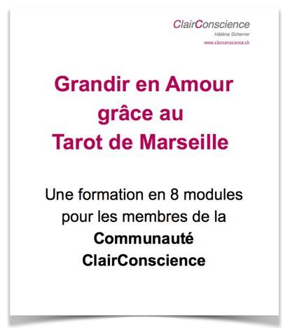 Grandir en Amour grâce au Tarot de Marseille et Hélène Scherrer