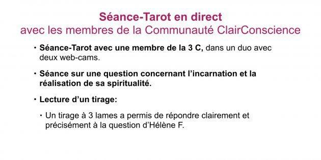 Séance-Tarot en direct
