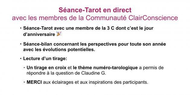 Séance-Tarot en direct-Hélène Scherrer de ClairConscience