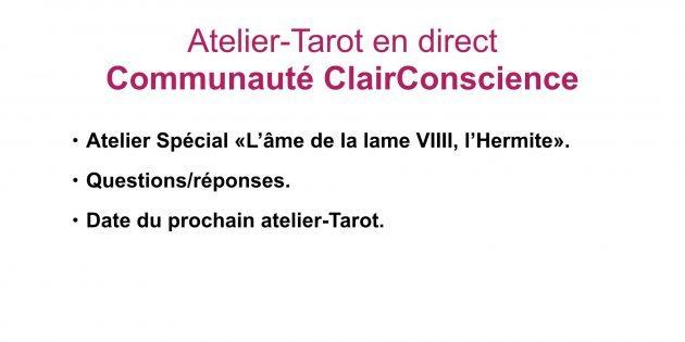 Atelier-Tarot sur l'arcane VIIII, L''Hermite