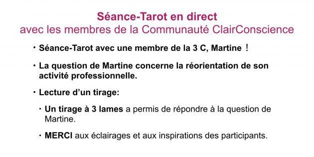 Séance-Tarot en direct avec Hélène Scherrer de la Communauté ClairConscience