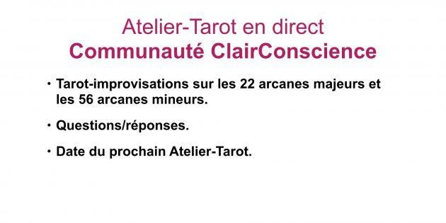 Atelier-Tarot du 1 mars dans la Communauté ClairConscience