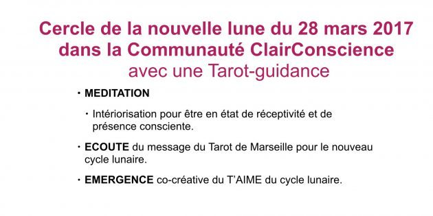Cercle tarot-méditatif dans la Communauté ClairConscience avec Hélène Scherrer
