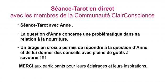 Séance-Tarot avec Hélène Scherrer et les membres de la Communauté ClairConscience