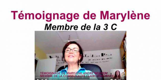 Marlène, membre de la Communauté ClairConscience d'Hélène Scherrer
