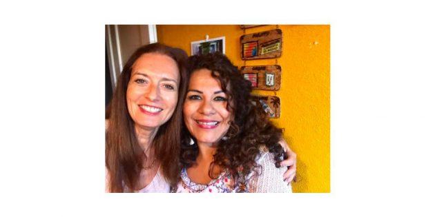 Hélène Scherrer et Lourdes Flores de la Communauté ClairConscience