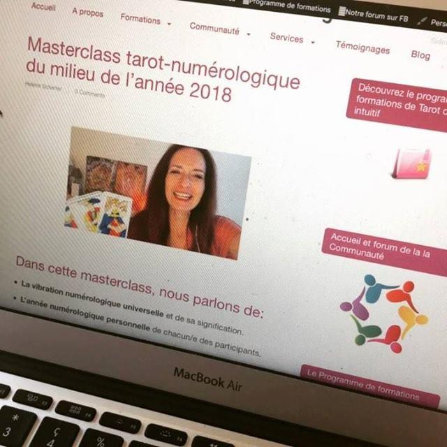 la masterclass tarot-numérologique avec Hélène Scherrer de la Communauté ClairConscience
